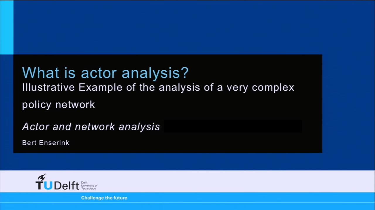 What is actor analysis...